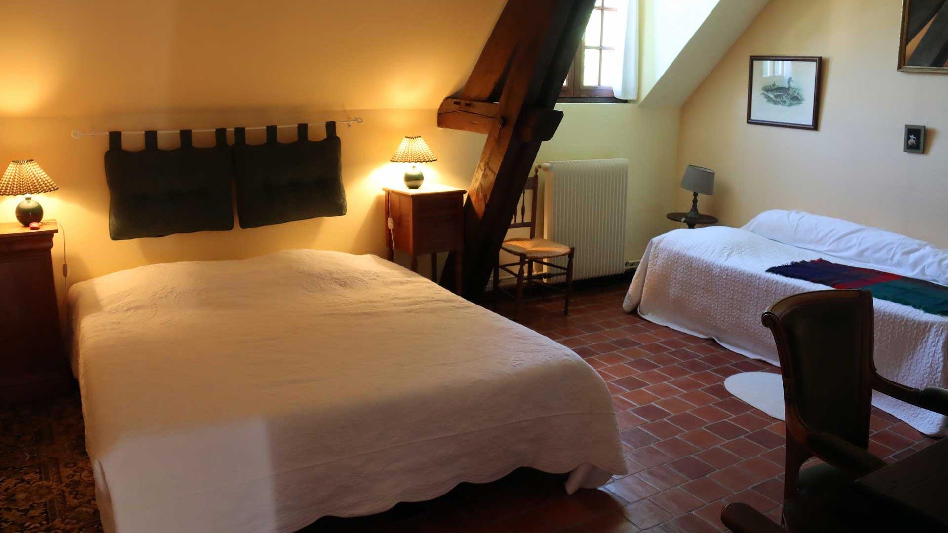 Chambre 1 hôtes Touraine